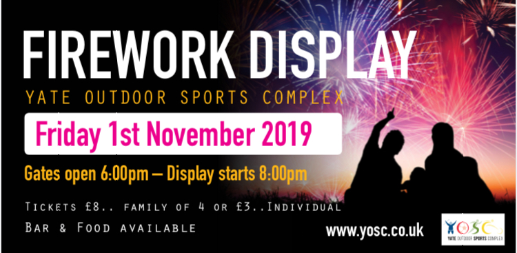 Fireworks Display 1st November 2019